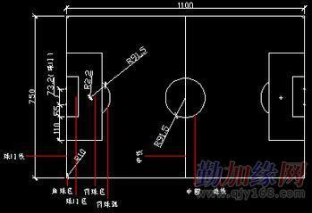 足球场标准尺寸图,你知道吗?(图)_勤加缘网社区
