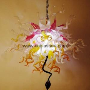 客厅艺术彩绘玻璃吊灯灯饰  PX46