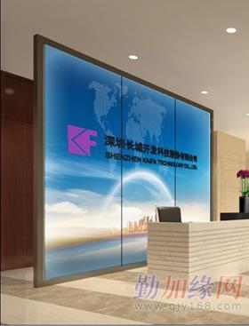 济南公司背景墙,企业形象墙,艺术玻璃,前台背景