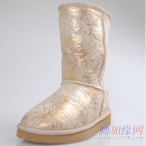 广州厂家加工批发菊花雪地靴女童棉靴雪地靴棉鞋PU靴子女单鞋