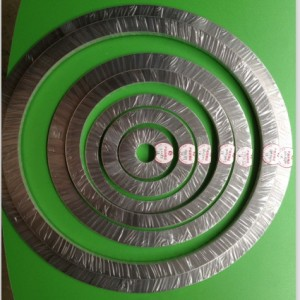 D型带内外环金属缠绕垫片 化工厂设备密封垫片 石油密封垫片