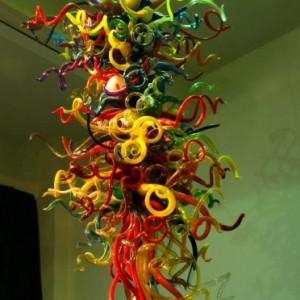 别墅吹制玻璃大型灯饰、大型艺术品、雕塑类