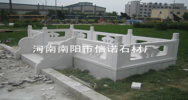 南南阳信诺案例墓碑石扶手栏板栏杆田园别墅风柱子凉亭室内设计石材风图片