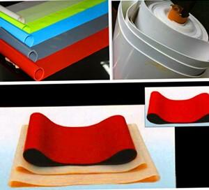 供 塑料袋热切机硅胶带  一次成型耐高温硅胶输送带