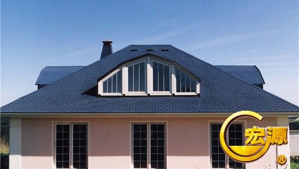 赤峰通辽沥青别墅瓦-L内蒙坡屋面玻纤瓦户型一品欣别墅鹏图图片