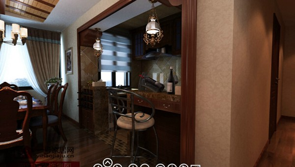 扬州骏和a乡村湾美式乡村天花装修效果图-风格小户吊顶布置图设计图怎么看图片
