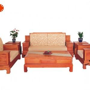 高背博古沙发 缅甸花梨木沙发 鲁创红木 红木家具 沙发