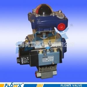 弗雷西高压气动球阀带限位开关带电磁阀、耐500℃高温就地控制