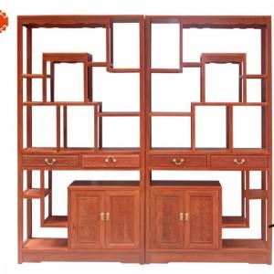 草龙博古架定做老红木红木家具、东阳木雕图片