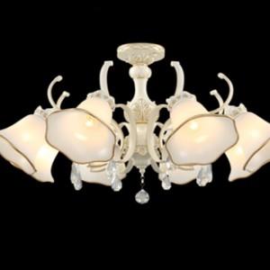 现代美式树脂吊灯简约欧式客厅吊灯铁艺+玻璃现代吊灯厂家直销