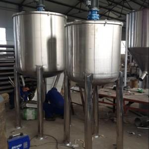 厂家供应北海100L不锈钢化工搅拌桶 洗洁精乳化罐设备
