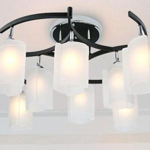 不锈钢底盘+铁艺+玻璃罩子现代客厅吸顶灯现代白色玻璃罩子灯