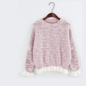 厂家直销韩版女装针织打底衫 厂家库存清仓女式毛衣 地摊服装货