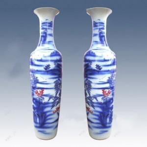 陶瓷大花瓶 景德�日用陶瓷 陶瓷花瓶�S家