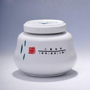 新款茶叶礼盒包装盒批发高档陶瓷茶叶罐可定制