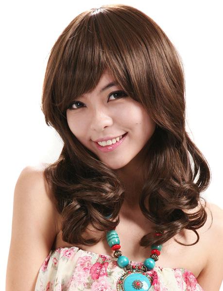 【韩国假发】韩国时尚假发流行发型女性必备长卷发斜修脸气质假发