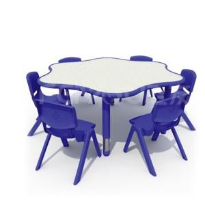 儿童玩具/幼儿园玩具/木质玩具/米兰梅花桌24005