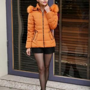 营口2015新款韩版加厚修身羽绒棉衣冬季保暖女装保暖棉衣外套
