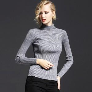 大朗毛衣批发厂家直销长袖半高领针织打底毛衫批发毛衣加工毛织厂
