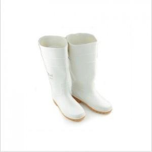 防酸碱油高筒雨鞋食品卫生靴白色食品靴耐酸碱油劳保雨靴防化靴