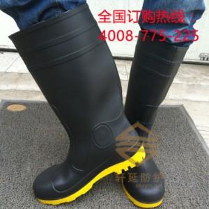 厂家直销男士防砸防刺穿雨靴 双钢包头雨鞋 油田防砸劳保雨鞋