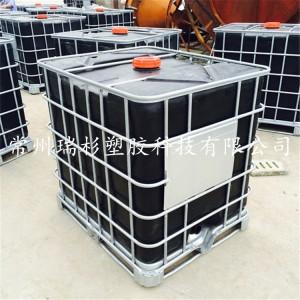 临沂1000Libc集装桶 滚塑吨桶 化工运输桶 叉车周转桶
