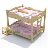 拉萨幼儿园床幼儿园家具实木桌椅板凳定做,大林童床厂