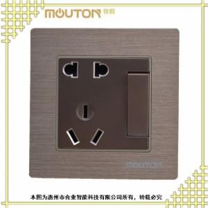 供应台湾 合业 弱电开关 酒店卫浴开关 不锈钢拉丝面板