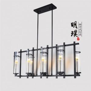 新中式玻璃吊灯|别墅新中式铁艺吊灯|明璞新中式吊灯厂家