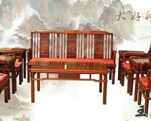 王义红木红木家具 明式红酸枝沙发保养好可增值
