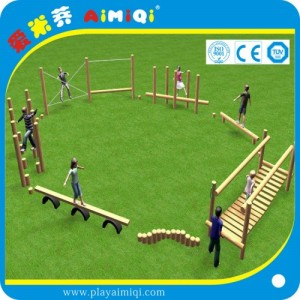 休闲农庄儿童娱乐设施 木质生态游乐场 户外攀登架组合滑梯厂家