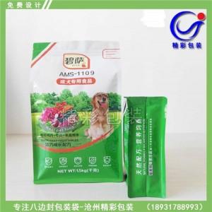八边封自立包装袋设计/UV印刷立体实物八边封自立包装袋