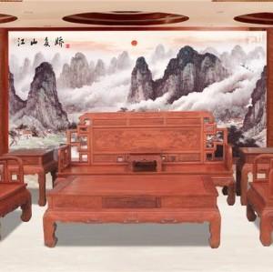 浙江古典中式客厅沙发明清定做家具红木家具厂家供应沙发