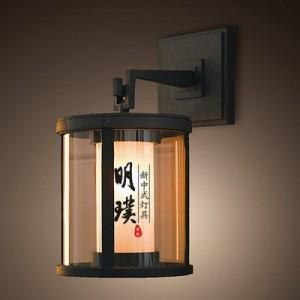 新中式壁灯定制厂家 现代中式铁艺壁灯 客厅玻璃新中式壁灯