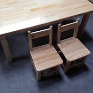 实木家具定制大林森厂家批发达州幼儿园桌椅儿童桌椅