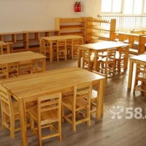 厂家大林森直销眉山幼儿园桌椅儿童实木家具