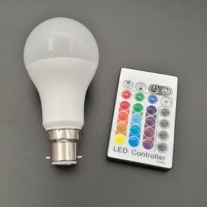 装饰彩灯5W B22 RGBW塑包铝球泡灯