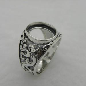 925银镀白金戒指托首饰空托 首饰厂批发饰品加工定制