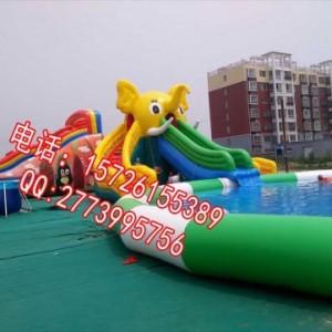 大象划滑水户外充气乐园 小型水上乐园玩具 热门户外新型游乐设