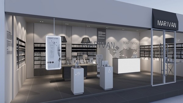 广州化妆品专卖店装修设计效果图最有个性的名片设计图片