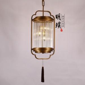 江苏铁艺中式吊灯厂家 玻璃新中式吊灯 现代中式餐厅吊灯加盟
