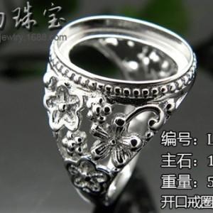 优质戒指托批发采购广州首饰工厂供应925银镶嵌托饰品加工厂