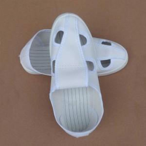 防静电四孔鞋 劳保工作鞋PVC底