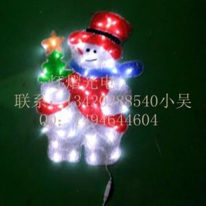 LED节日装饰灯 圣诞灯 景观灯 滴胶圣诞老人 鹿拉车造型灯