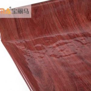 宝丽马PET高温免胶膜 红柚木纹铝塑板复合材料 热转印膜厂家