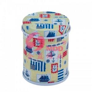 哑油小圆形茶叶铁盒GA  - 东莞合益罐业铁盒公司