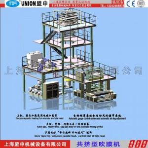 上海盟申供应60型单螺杆塑料吹膜机  高低压吹膜机 制袋吹膜