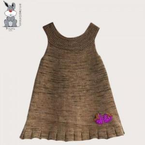 2-7岁女童自然风全棉针织背心连衣裙 儿童毛衣批发