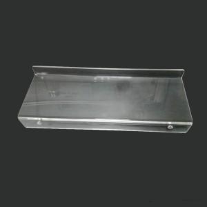 透明卫生间收纳架亚克力浴室透明护肤用品摆放台批发热弯置物架
