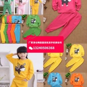 内蒙古秋冬季中大童童装批发厂家直批10元以下童装T恤卫衣套装